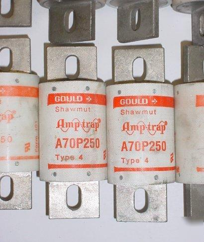 New lot gould electrical fuse fuses amptrap 250 amp