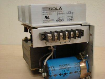 New sola dc power supply model: 83-24-260-03 24VDC , =