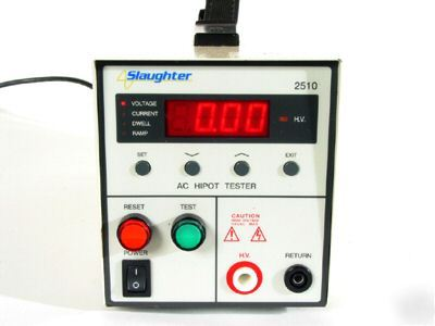 Slaughter ac hipot tester, model 2510