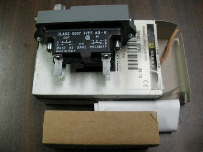 Square d 9007 A016 plug in limit switch module - nos