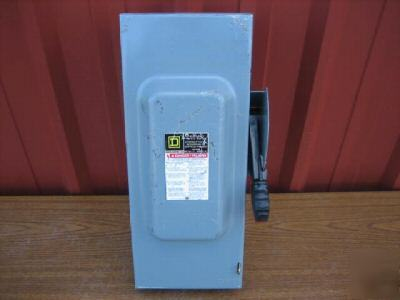Square d HU363 safety switch 100AMP disconnect 100A F05