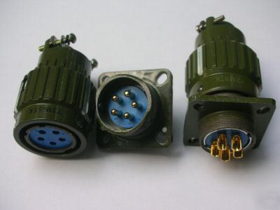 1, military 5-pin twist male & female connector,104