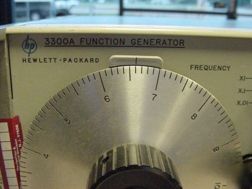 Hewlett packard 3300A function generator & 3304A sweep