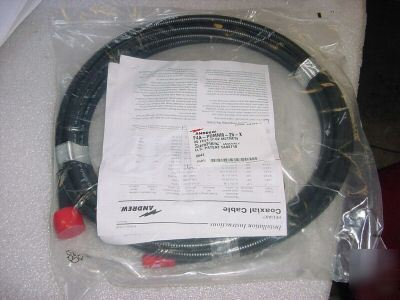 New andrew coaxial cable 1/2 heliax cable 20 ft n-male