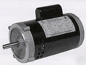 New electric jet pump motor, 1 hp, 56C frame, tefc