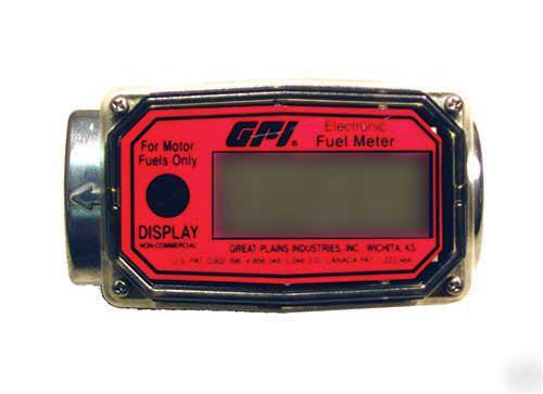New gpi electronic digital lcd fuel diesel gas meter