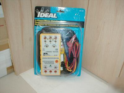 New ideal 3 phase motor rotation tester 61-521 w leads