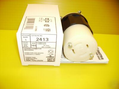 New leviton plug connector 2413 20A 125/250 L14-20