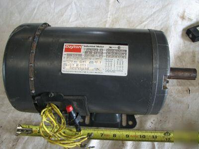 Dayton-industrial-3-hp-tefc-electric-motor-picture-1 Dayton Industrial Motor Wiring on