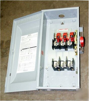 Siemens heavy duty switch HF363, 100A, 600VAC/dc, 3-ph