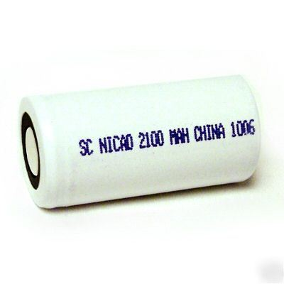 Sub-c 2100MAH nicd for assembly pack hi-drain battery