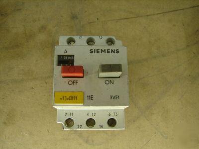 Siemens manual motor starter 3ve1010 2f 63 1a breaker for Siemens manual motor starter