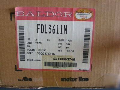Baldor motor - 2 hp 1725 rpm - 1 phase - farm duty