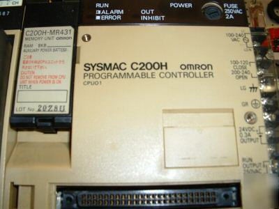 Complete omron plc system C200H sysmac loaded with i/o
