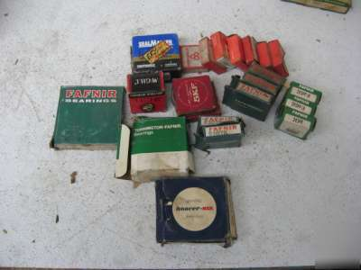 Fafnir,mcgill,skf,hoover,seal-master bearings lot of 22