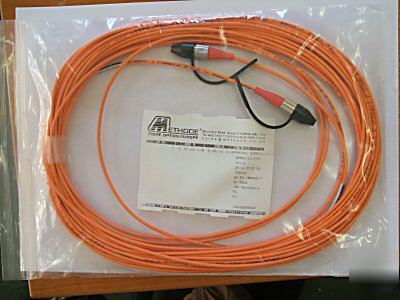 Fibre optic patch lead single mode orange 15 mtr 10 off