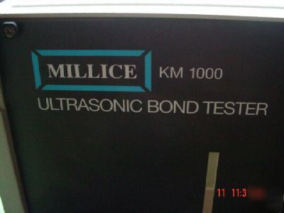 Mfd by polytec :millice km 1000 ultrasonic bond tester