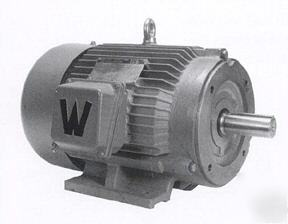 New 15 hp electric motor, c flange with mounting base