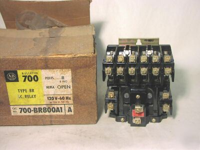 New allen bradley 700-BR800A1 ac relay 8 pole