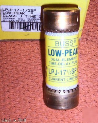 New buss low peak lpj-17-1/2SP fuse LPJ17.5SP j nnb