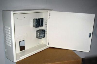 New electrical enclosure cabinet alarm ups locking box