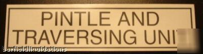 New lot 20 pintle and traversing unit decal stickers