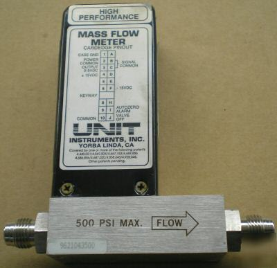 Unit ufm-1100 mass flow meter 2 slpm gas N2