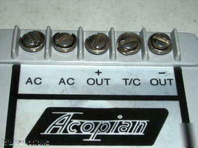 Acopian ac to dc power module 10E840 10 vdc