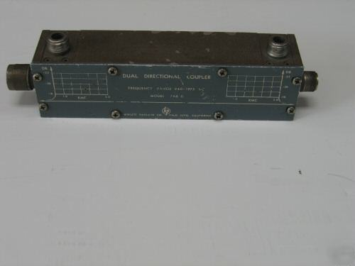 Hp 766D dual directional coupler, 940 mhz to 1975 mhz