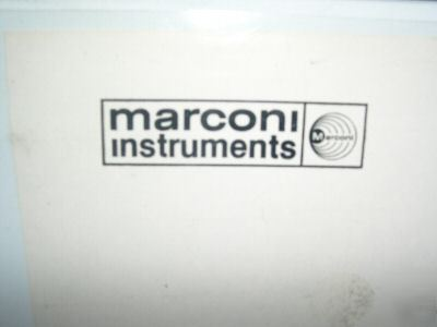 Marconi instr.tf 2370 110 mhz spec analyzer manual