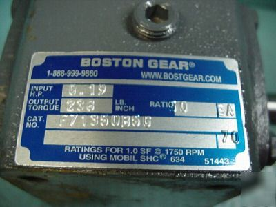 New boston gear 713 speed reducer gearbox 10:1 ratio