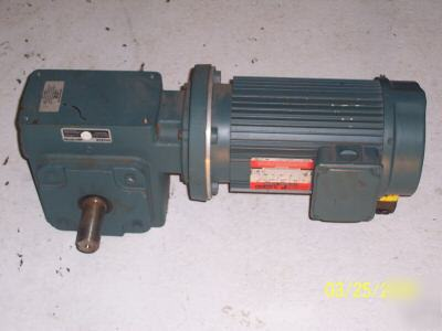 Reliance gear box motor combination