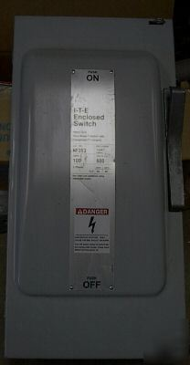 Siemens 3 phase 100 a 600 v N1 disconnect switch #NF353