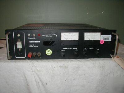 Sorensen srl 10-25 10 volt 25 amp power supply.