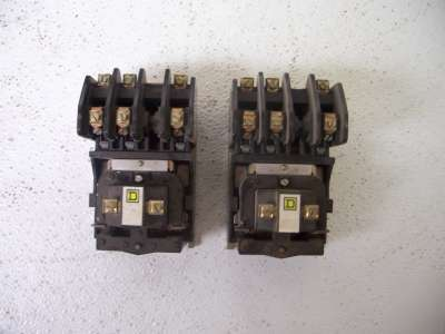 Square d 8501 HO30 series d control relay lot of 2
