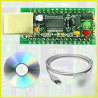 Usb serial uart ftdi interface adapter board avr pic