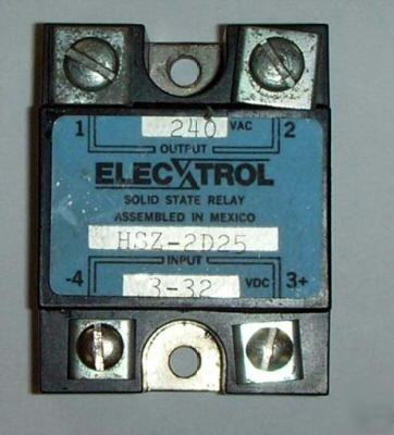 Elecxtrol solid state relay 240VAC – 25AMPS