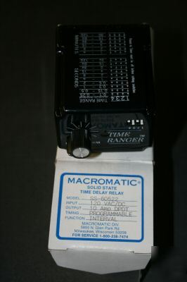 Macromatic solid state time delay relay ss-60522