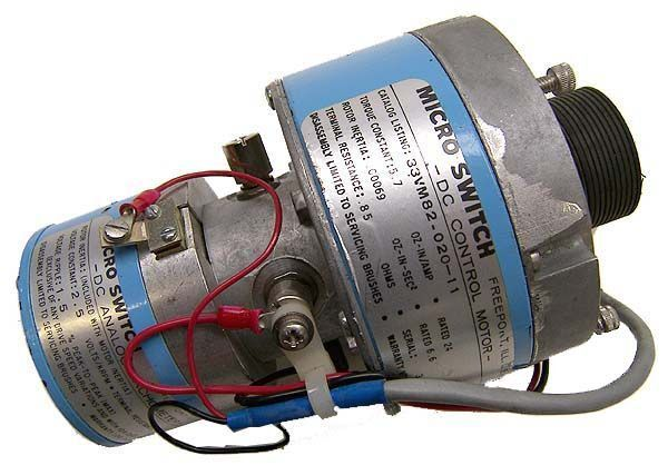 Micro switch dc control motor / dc analog tachometer