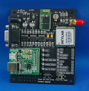 Mini usb & bluetooth interface gps module demo board