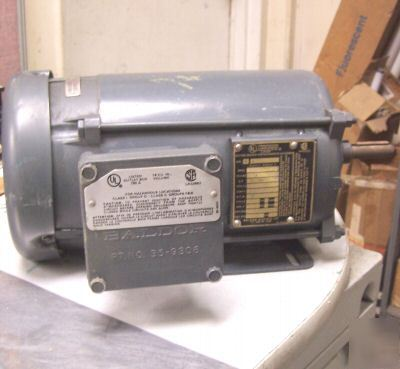 New baldor 1 hp expl.proof electric motor frame 56