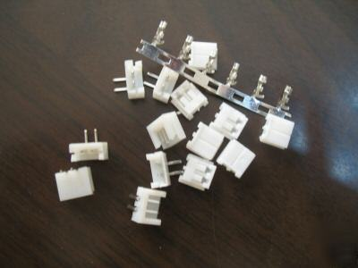 100X 2 right-angle pin connectors(female+male+terminal)