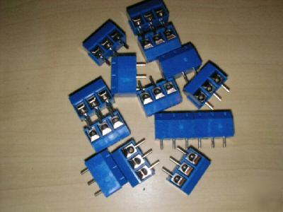 3-way/pin screw terminal block connector 5.00 mm pitch