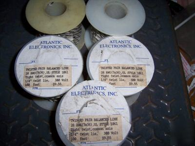 500 ft UL1061 hook up wire 28 awg stranded twist pair