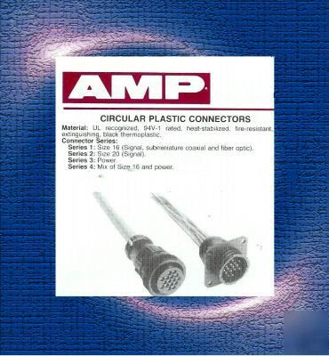 Amp 4 pos cpc plug assy 11-4 #206060-1 lot of 100 pcs