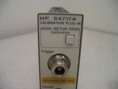 Hp 54717A calibrator plug in