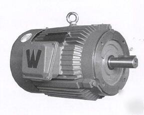 New 2 hp electric motor, c flange footless