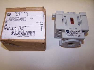 New allen bradley 194E-A32-1753 loadswitch, 32A -