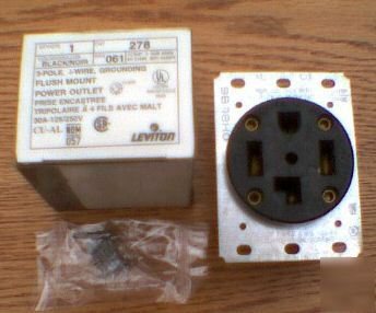New leviton 278 receptacle 30 amp 125/250 v 14-30R