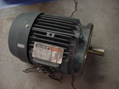 New reliance electric motor 230/460 5HP 184TC 3475 rpm